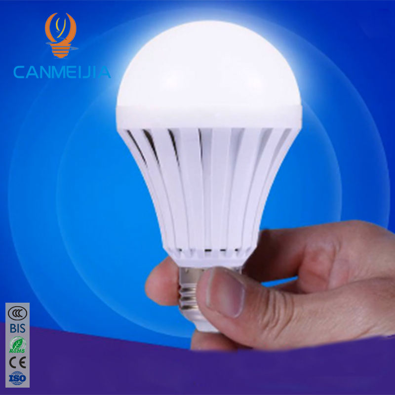AC85-265V Automatic Charging 5w 7w 9w 12w E27 Intelligent Emergency Rechargeable LED Light/LED Lamp/LED Light Bulb