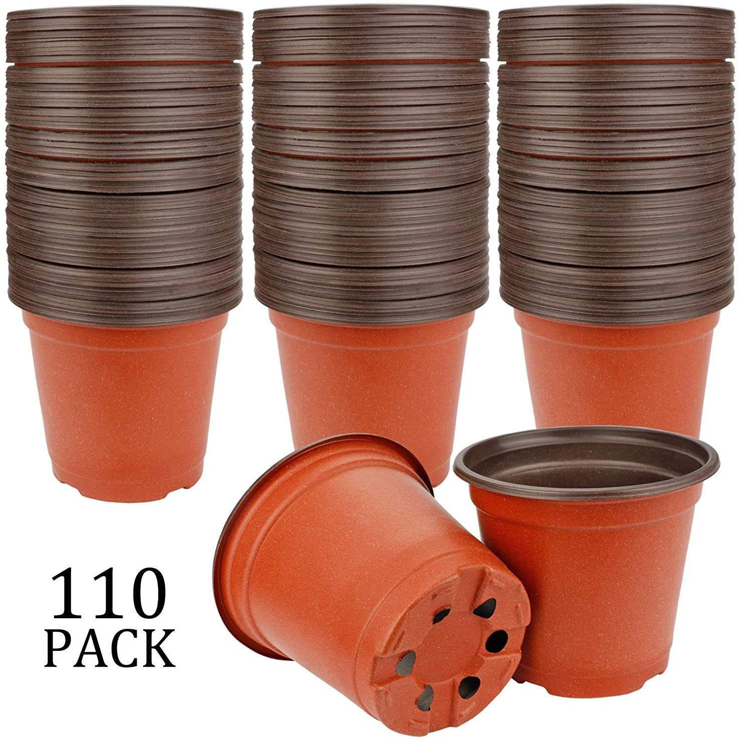 "Seed Starting Pots 4"" Plastic Plants Nursery Pot"