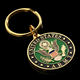 For souvenir customized promotional gold soft enamel military army coin keychain GS Craft