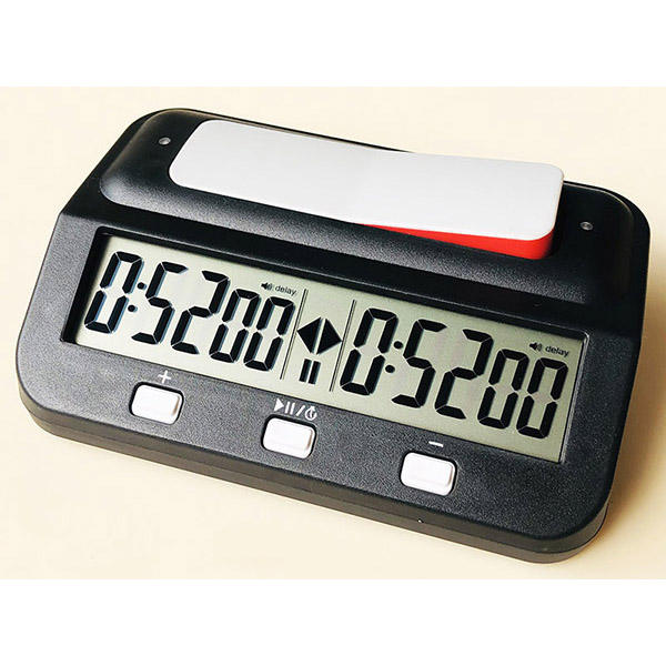 Basic Digital Chess Clock And Chess Timer with Bonus & Delay(The Cheapest Price and Very Good Quality too)
