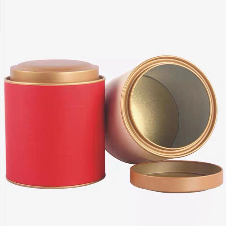 Luxury Mini Round Custom Logo Paper Box Embossed Tea Tin