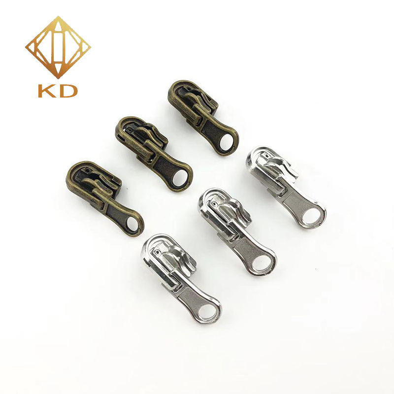 #5 Metal Zipper Slider Wholesale Zipper Puller With Non-Lock/Auto-lock Slider For Clothing,Pants