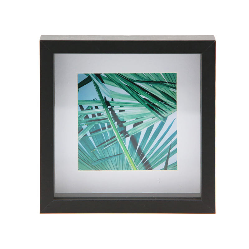 Jinn Home Custom square picture frame shadow box with matte
