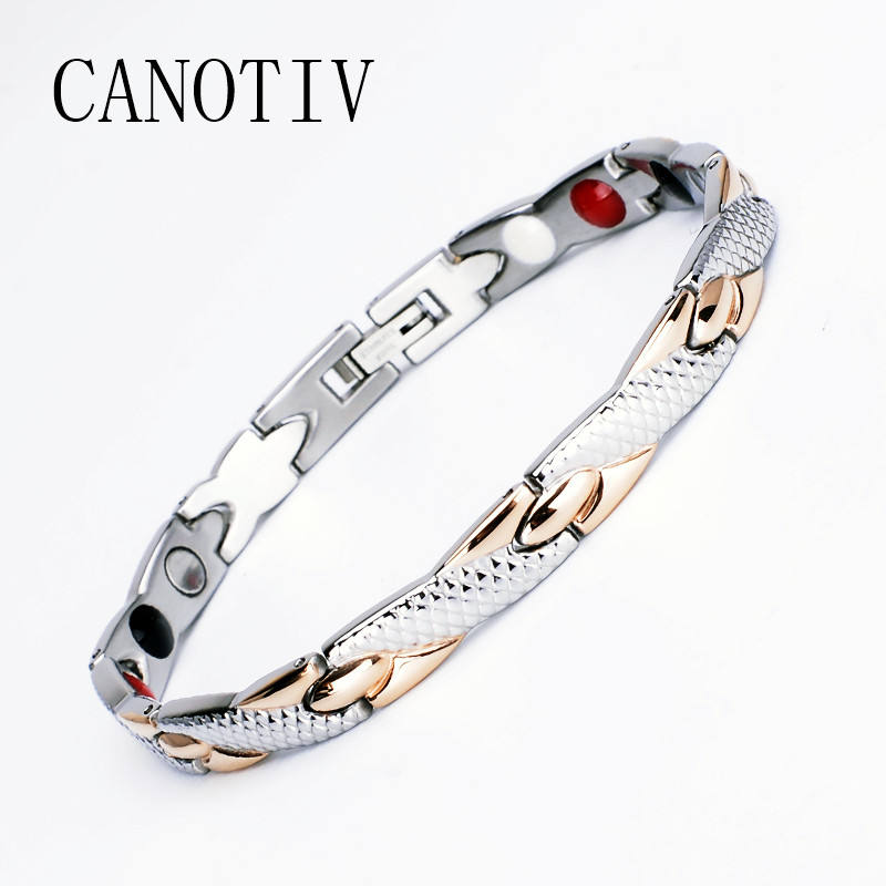 Hottest Sale Logo Chain Stainless steel Bracelet Bio Power Magnetic Health Germanium Bracelet Hand Chain For Men