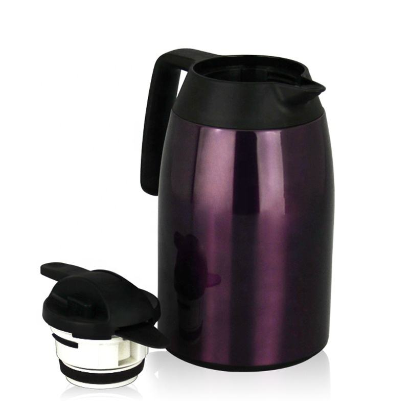 Newest Double Wall Thermos Flask Coffee Carafe 304 Stainless Steel Vacuum Jug with Custom Color