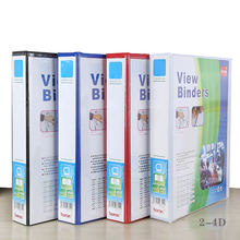 Factory wholesale A4 binding folder PVC office binder 2 Inches 4 hole clamp
