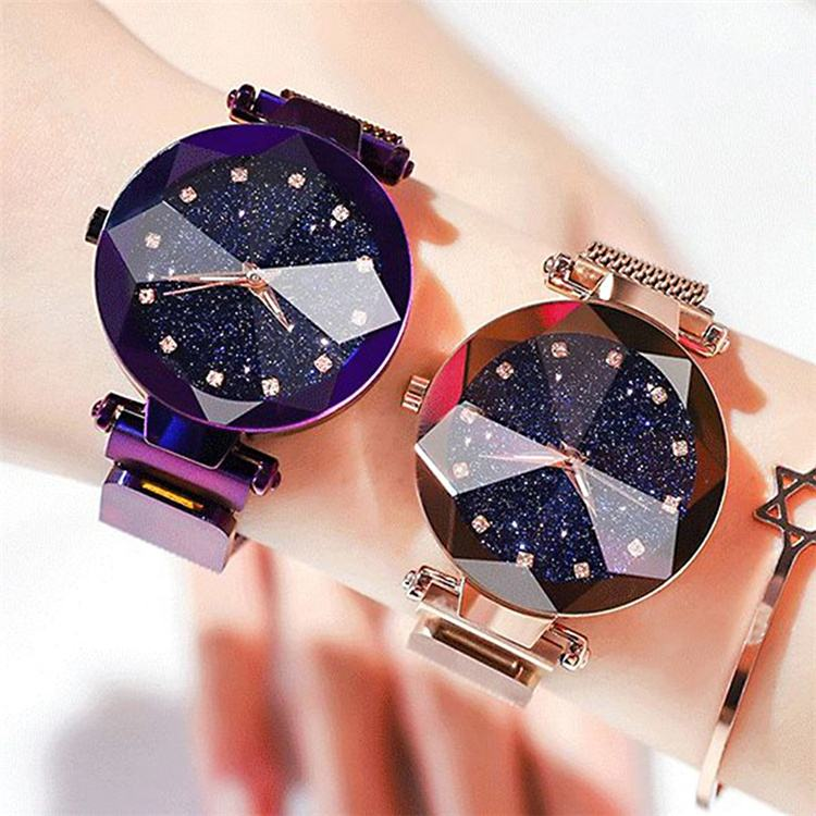 Ladies Magnetic Starry Sky Clock Luxury Women Watches Fashion Diamond Quartz Wrist watch