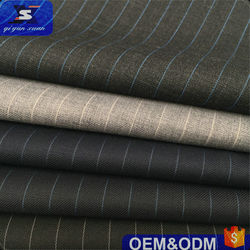 NEW Italianism style stripe design 50% wool material fabric suiting men's suit blazer pants school uniform garment woven fabric