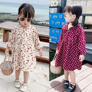 2020 Spring Baby Girls Dress Cotton Print Flowers Clothes Kids Dress