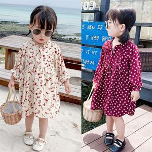 2020 Spring Baby Girls Dress Cotton Print Flowers Clothes Kids Dress
