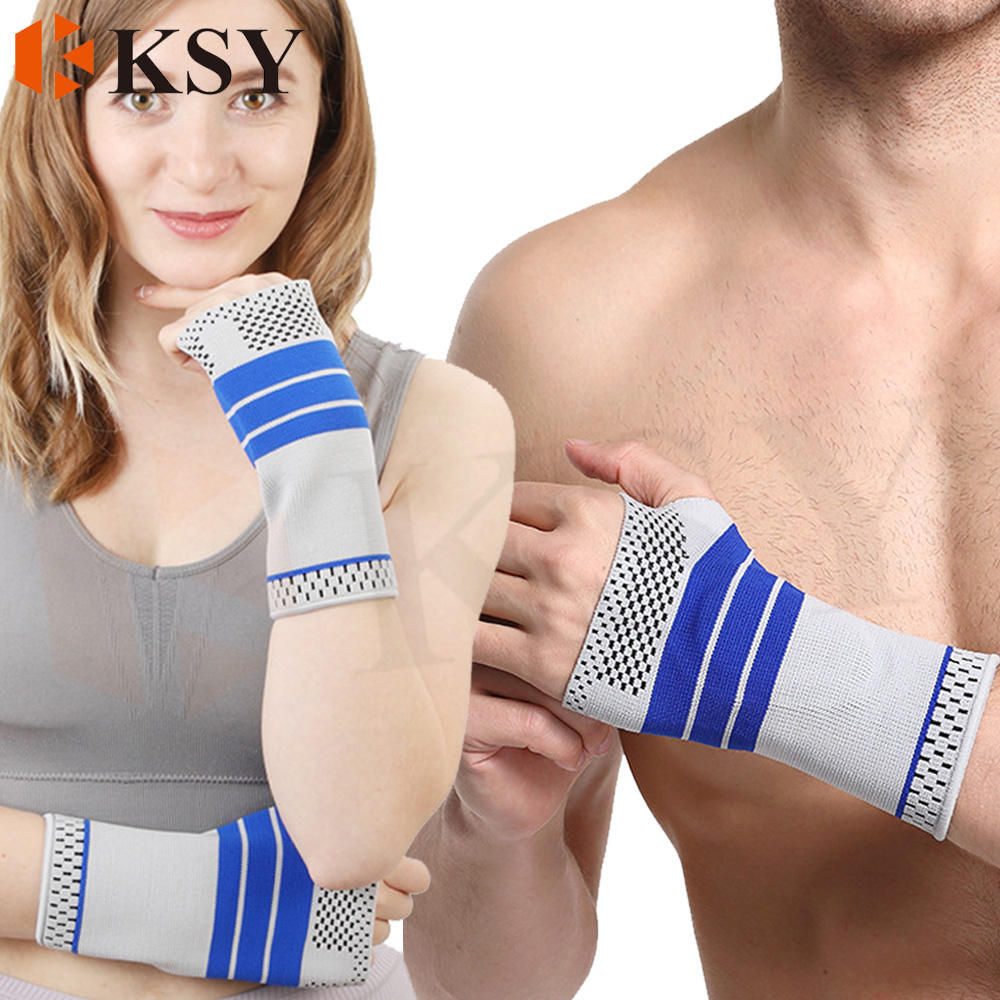 Knitted Wrist Guard Hands Joint Protection Accept OEM Customs Protecting Palm Wrist Guard