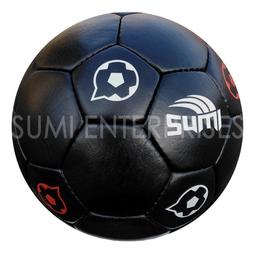 New Arrival 2021 High Quality SUMI Leather Football Soccer ball Traditional Vintage