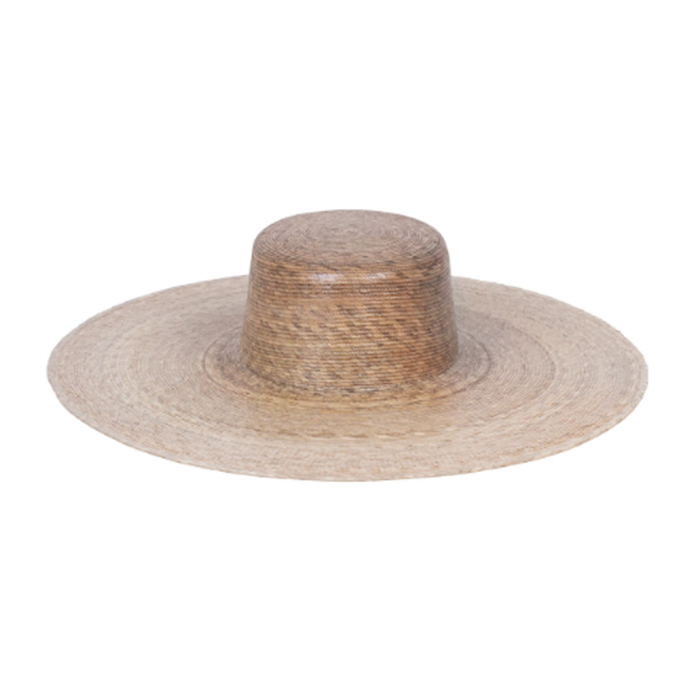 Natural Ultra Wide Flat Top Boater Straw Hat