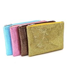 Wholesale fashion glitter simple sequin shiny set cosmetic storage bag beauty lady portable makeup travel bag