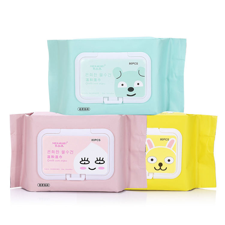 80pcs New face cleansing wipes female feminine care cleaning cotton tissue makeup remover wet wipes