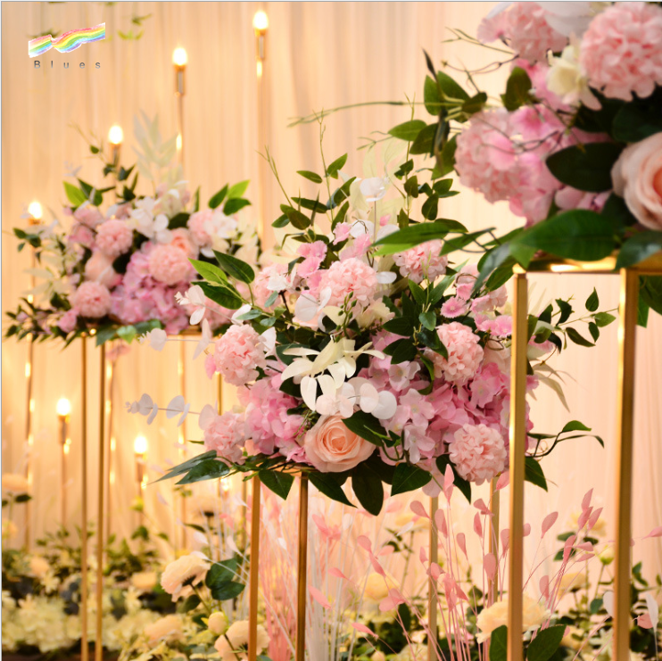 Wholesale high quality 2019 hot sale silk artificial whit rose flower ball wedding centerpiece for wedding home hotel decoration