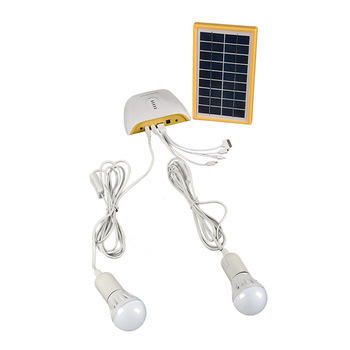 ESG Mini Portable Home AC Solar Lighting System Solar Energy System For Indoor Outdoor Camping Kit 3W