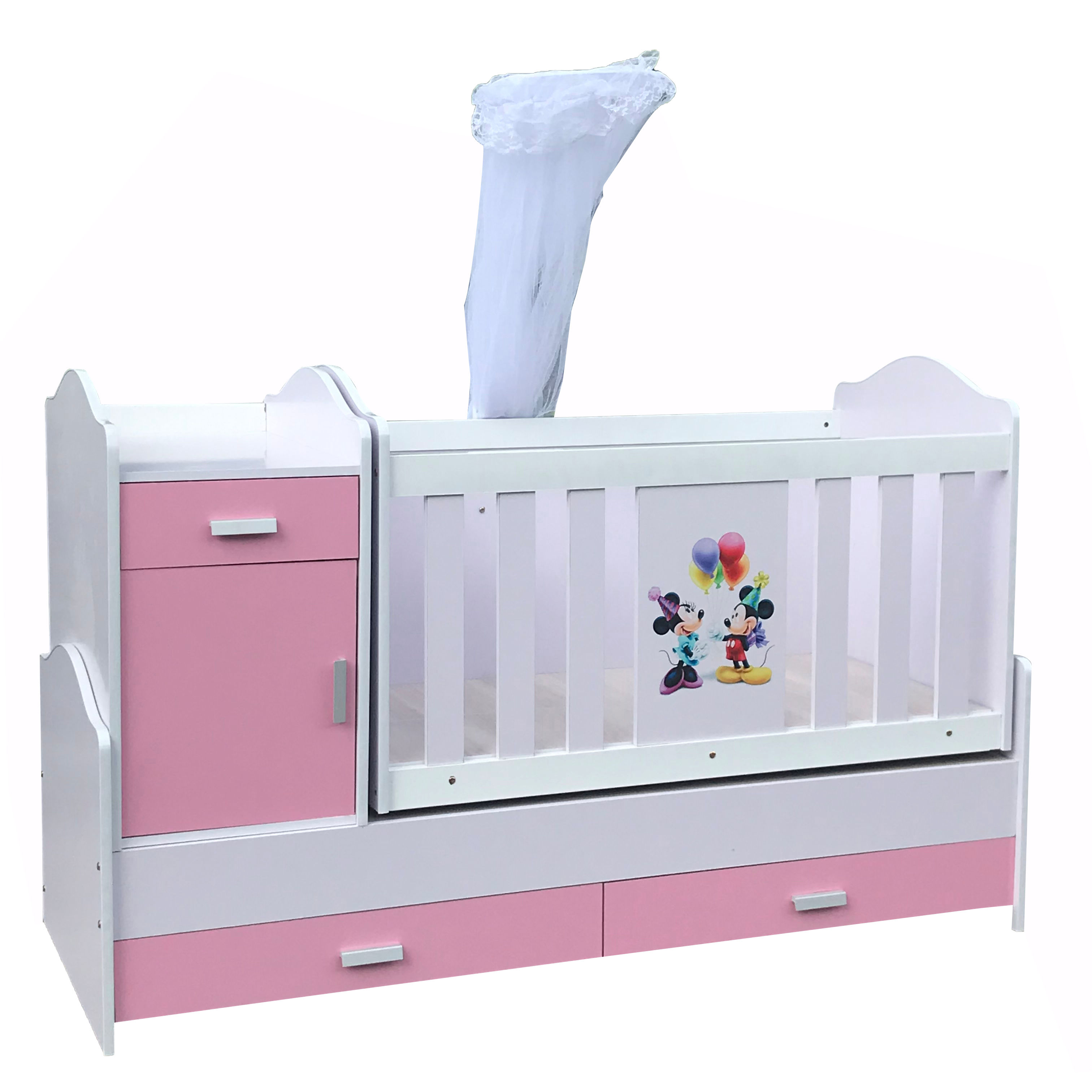 High-Quality Multifunctional Baby Crib Removiable Baby Cot Wooden Kids Bed Baby Playpens