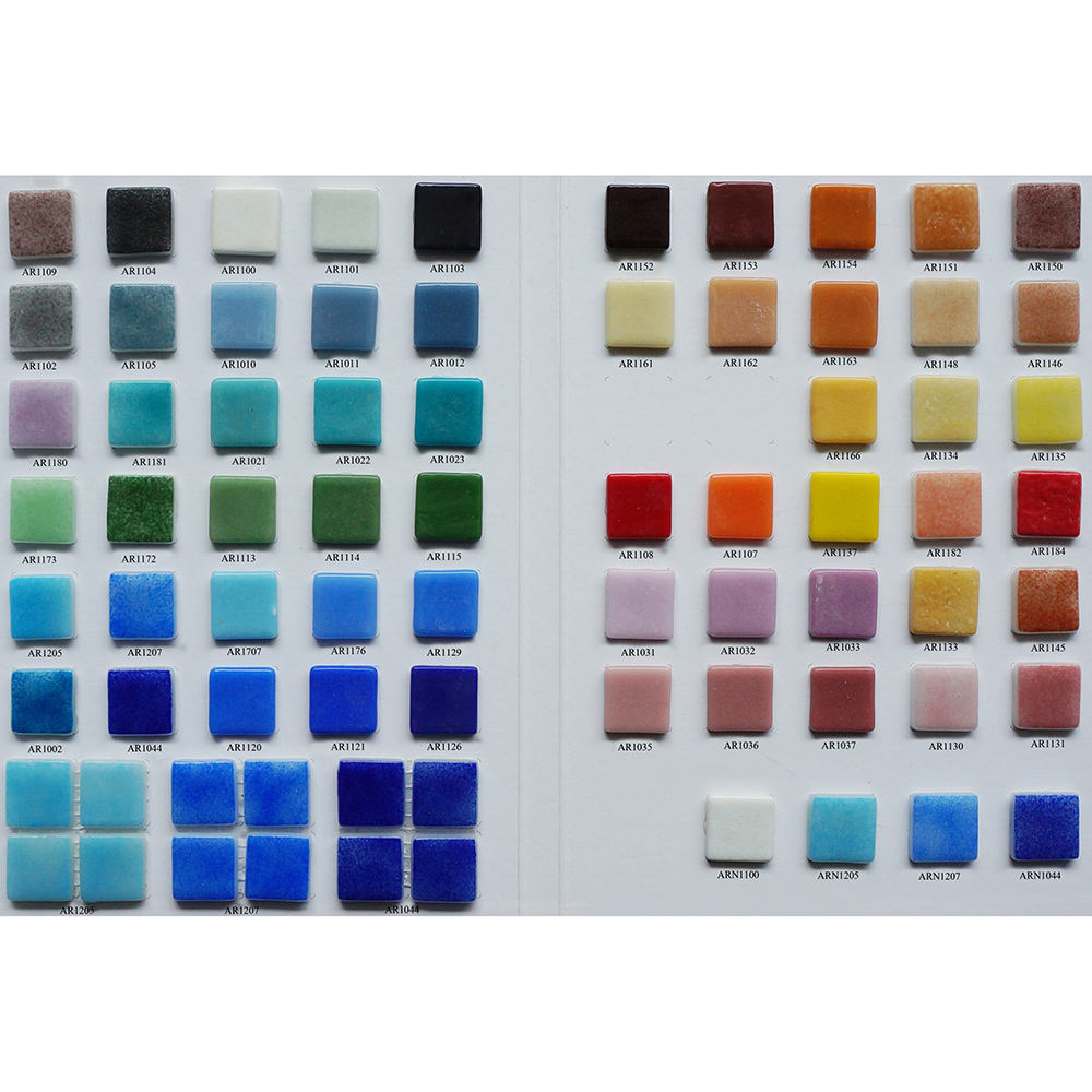 Multicolor DIY handmade spanish pool tiles loose assorted crystal glass mosaic tiles