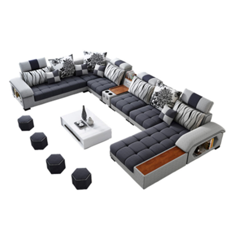hot sales washable living room sofa set multifunctional nordic style fabric sectional sofa