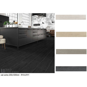 modern 3D best seller rectified grey black timber wood look ceramic floor and wall tile