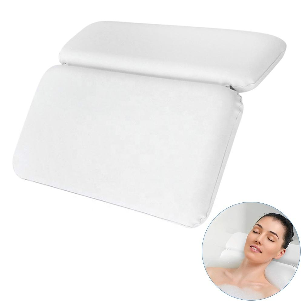 Bath tub pillow spa with suction cups inflatable luxury 3d bath tub pillow spa bath pillows waterproof