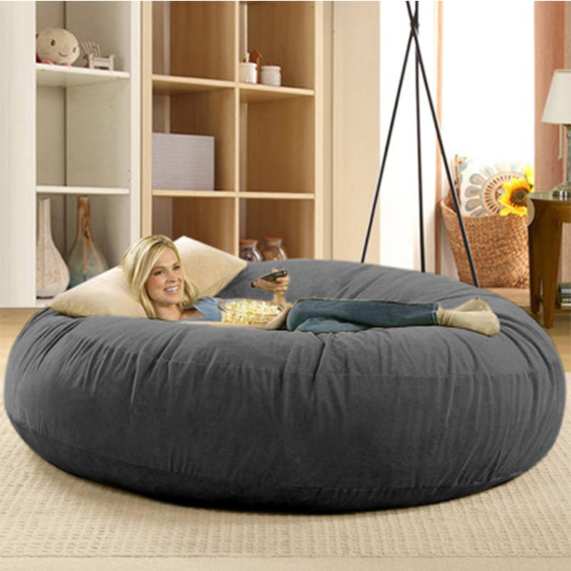 living room removable washable large bean bag cover furniture fat girls can be seat sofa bed cover