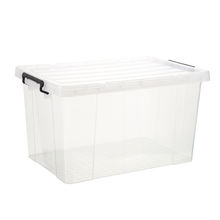 High quality reusable clear  bin transparent big clothes storage box with lid