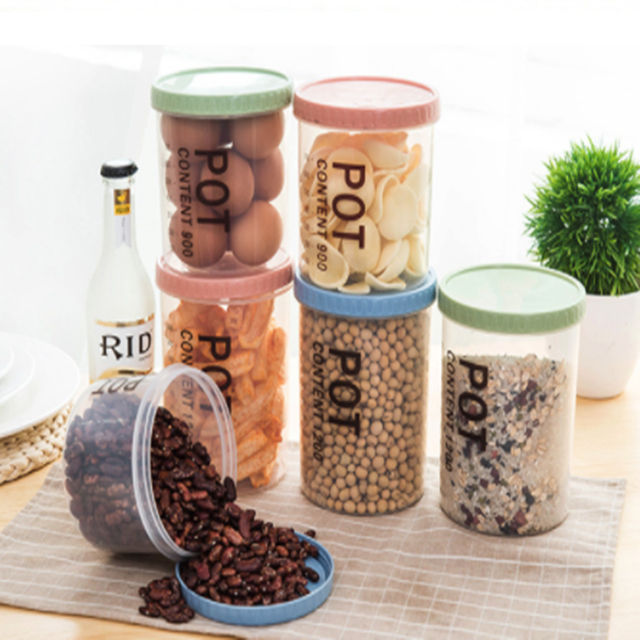 Online Shopping Plastic Kitchen Storage Containers Set Leak Proof Retain Fresheness BPA Free Refrigerator Storage Box Portable