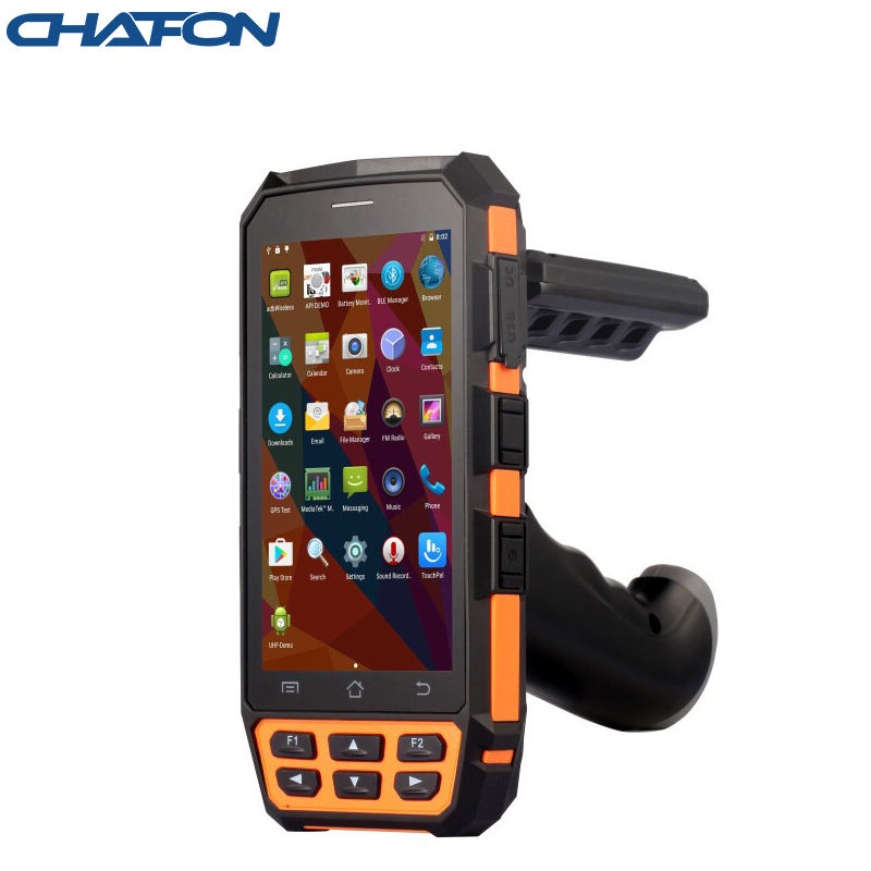 CHAFON IP65 waterproof industrial grade 3-5m long red range android R2000 uhf rfid handheld reader use for warehouse management