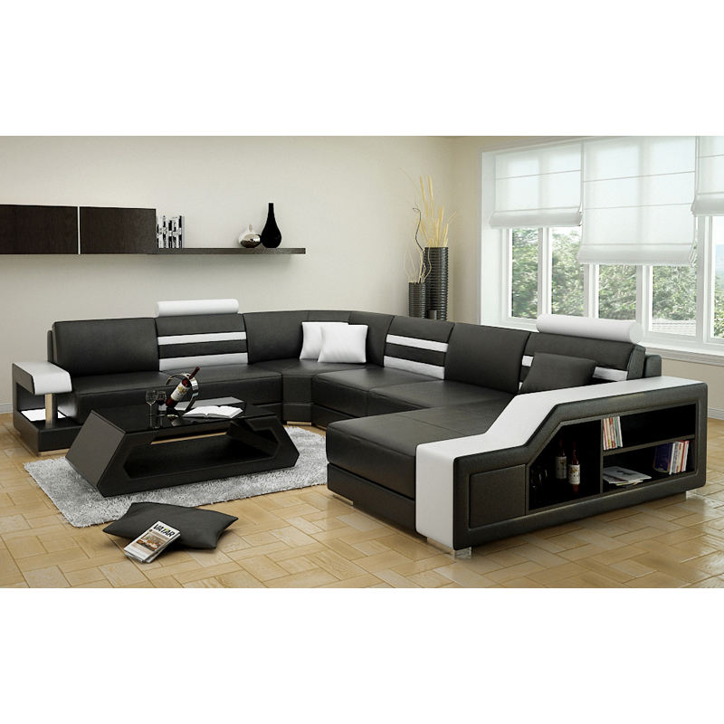 Modern Sectional Leather Sofa Set 7 Seater