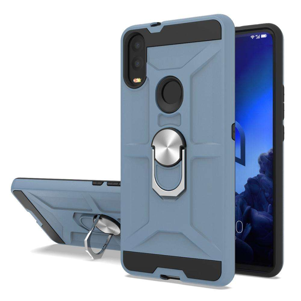 China bulk buy carbon fiber stand new arrival phone case tpu with holder for Alcatel 3V 2019 5032w