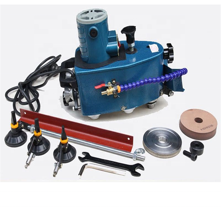 Portable Glass Edging Machine Beveling Machine Manual Glass Polishing Machine Including 2 wheels