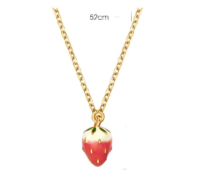 En gros <span class=keywords><strong>fraise</strong></span> gland collier mode fille collier de fruits design <span class=keywords><strong>fraise</strong></span> gland collier QWS0719