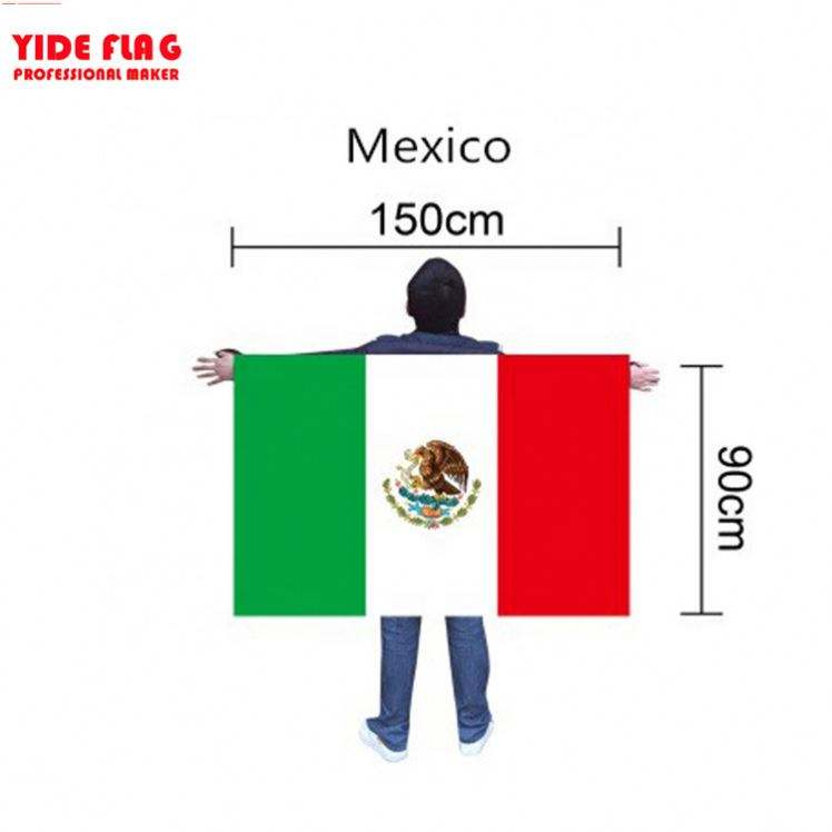 Mexico National Football Fan Cape Big Size Body Flag
