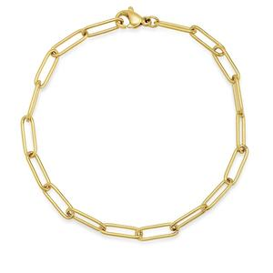 14k jewelry silver women bracelet large paperclip chain gold