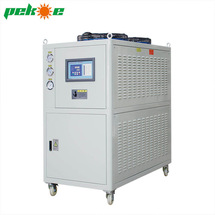 Good quality industrial high efficiency air cooled water chiller chillers uae with copper distiller cheap price