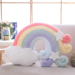 Creative pillow star moon rainbow plush toys baby home travel pillow