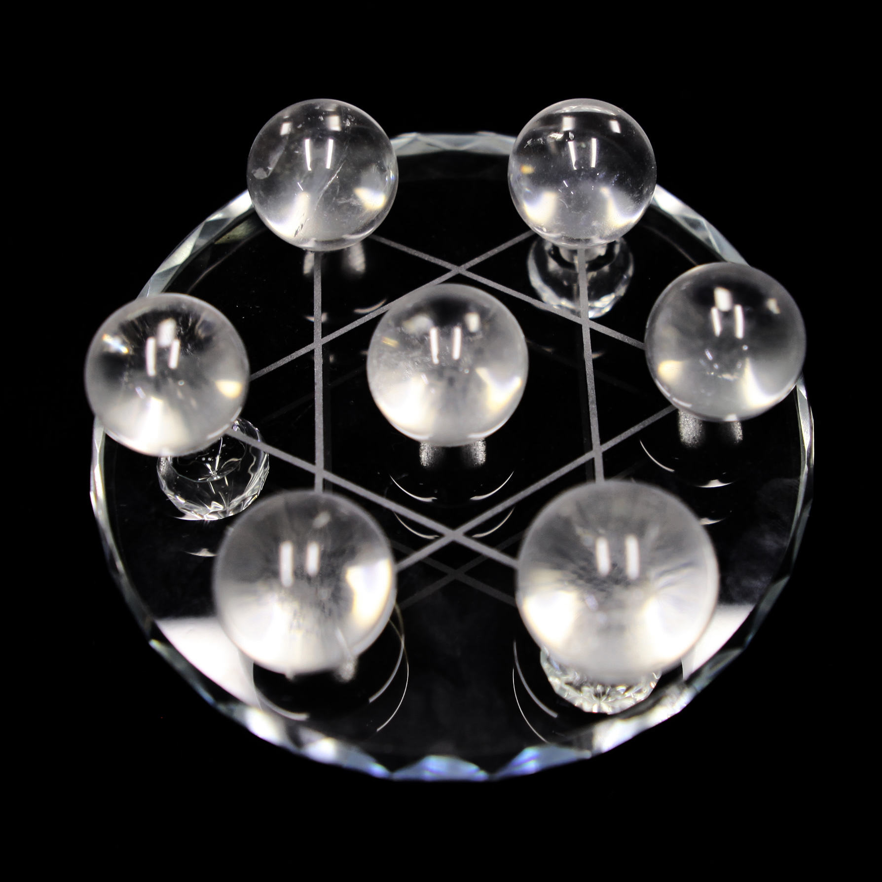 high quality clear quartz crystal ball Chinese qixing-array crystal decoration pieces