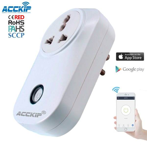 ACCKIP Alexa Smart Plugs Wifi-Stecker India Socket Timing-Funktion Günstige Fernbedienung Eu/Us/Fr mit CE ROHS