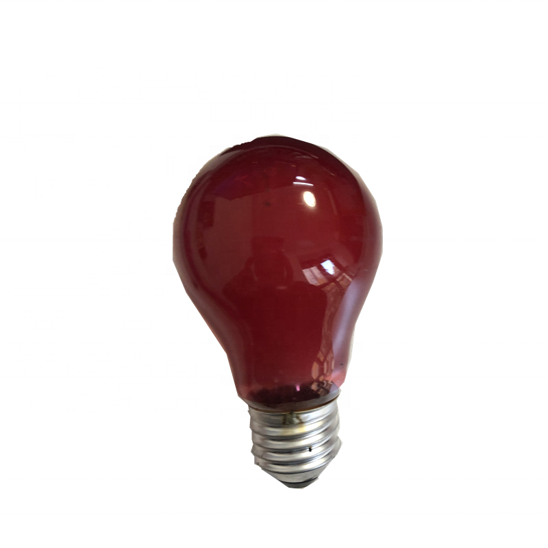 E27 220V 60W Incandescent Bulb RED