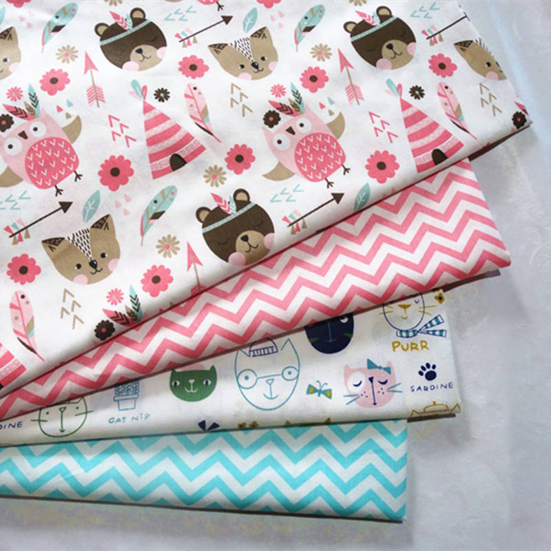 Wholesale custom 100% cotton printed fabric for bed and baby