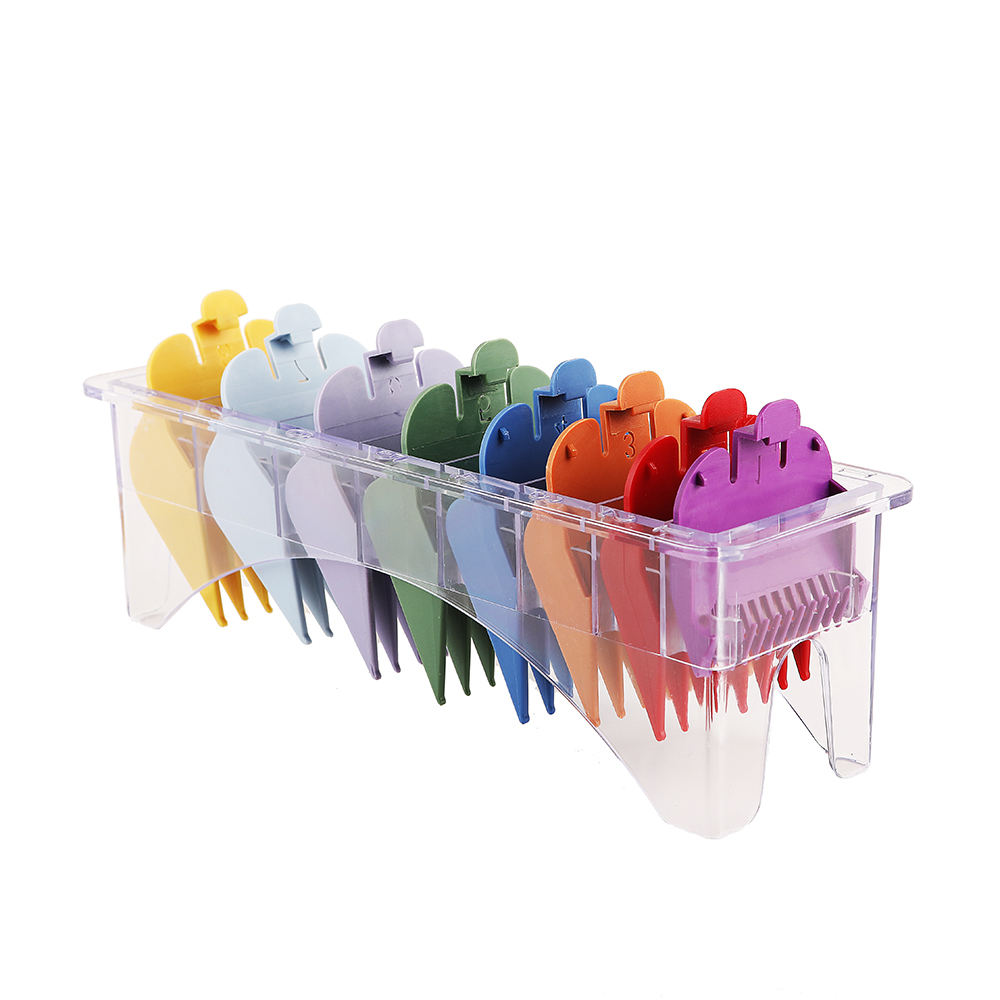 8PCS Pack attachment hair clipper guides Whosale multi 8color clipper limit comb