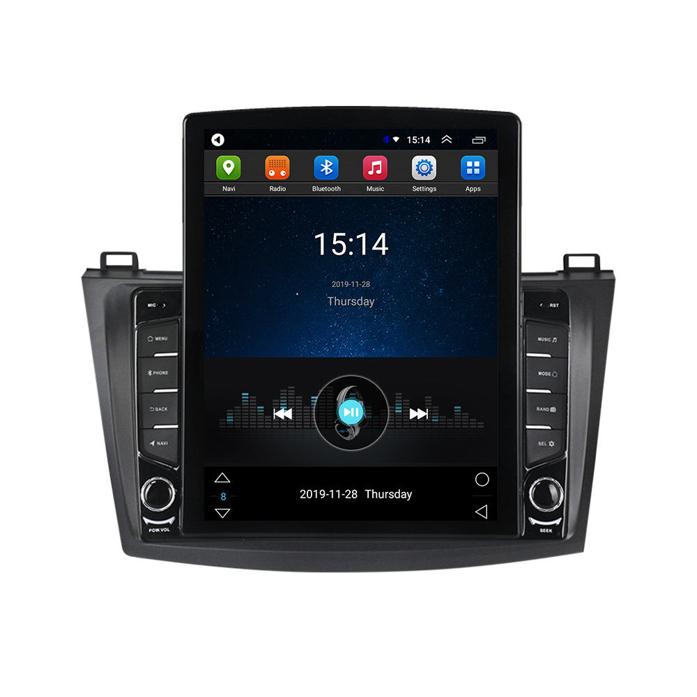 MEKEDE Android 9.0 Quad Core car audio system for MAZDA 3 2010-2012 Car Gps Navigation Radio TS100 big split screen 1+16G