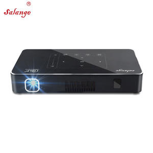 Salange P10 Portable DLP Video LED Mini Projector with 170 Ansi Lumens 8000 mAh Battery HiFi Speaker Android6.0 WiFi 4K Beamer