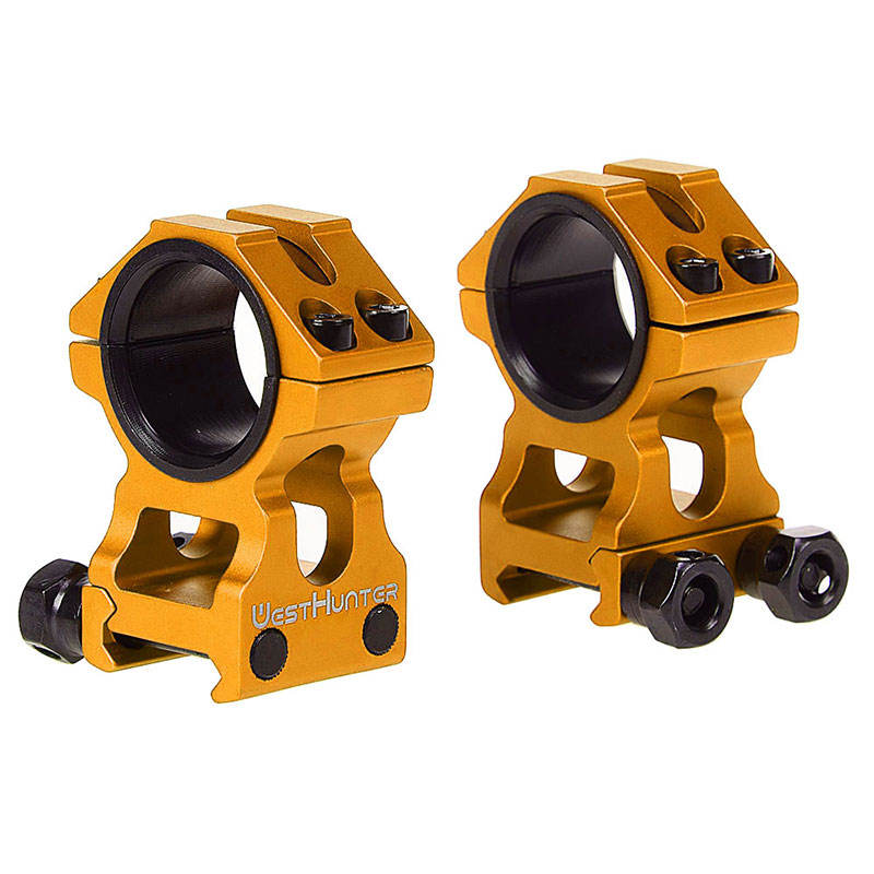 High Quality Golden Scope Mounts 1 zoll/30mm Dual Rings High Profile Picatinny Weaver Rail Mounts Bracket Hunting Accessories