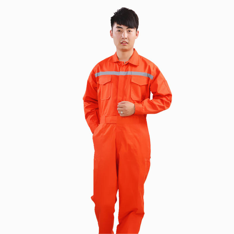 Reflective Strip Overalls Sets Polyester Cotton Unisex Work Wear customized
