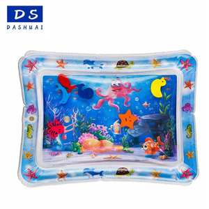 Hot sale inflatable baby water play mat with toys inside