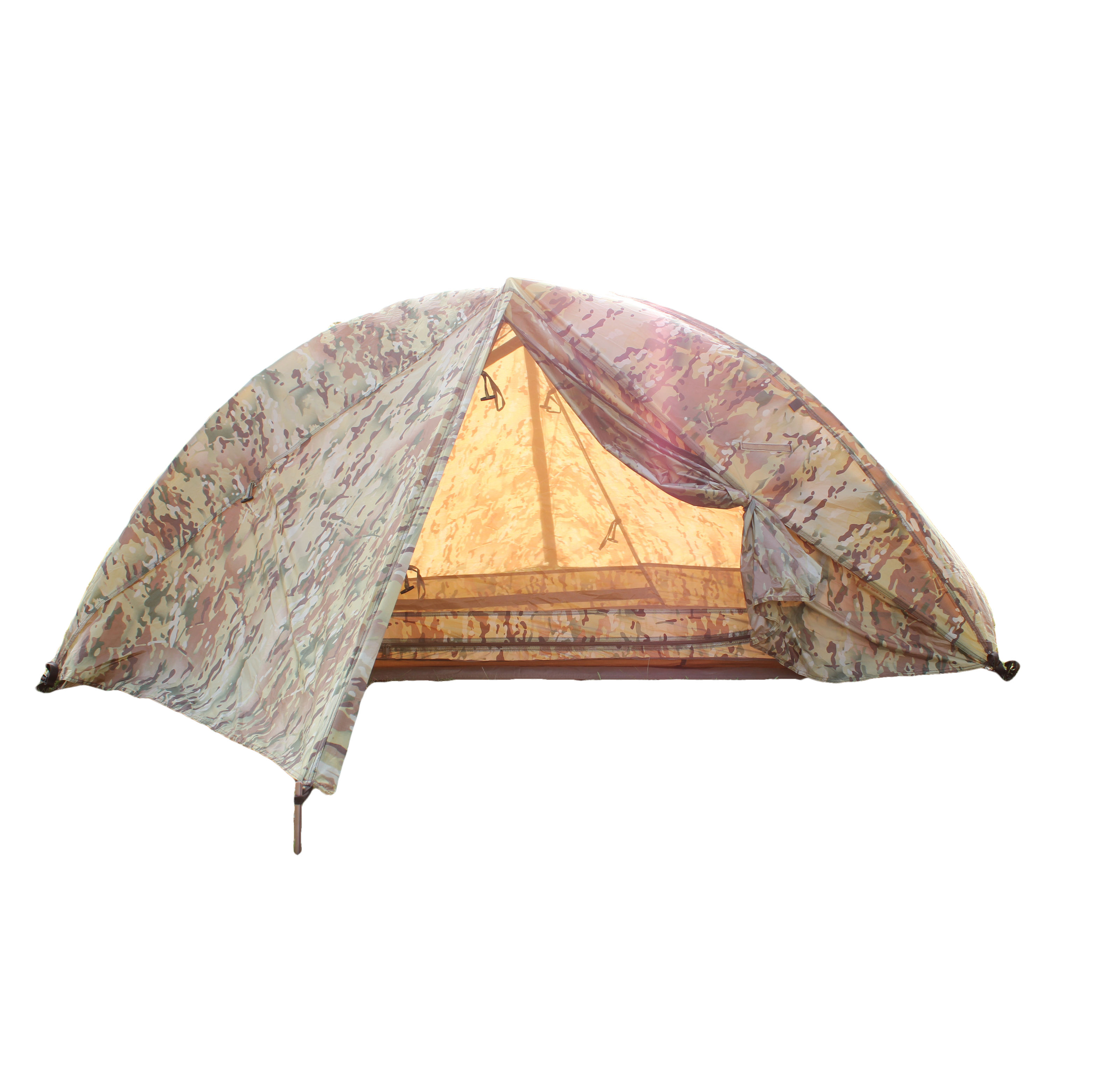 1 person camping multi camouflage bed play tent with mosquito net for kids
