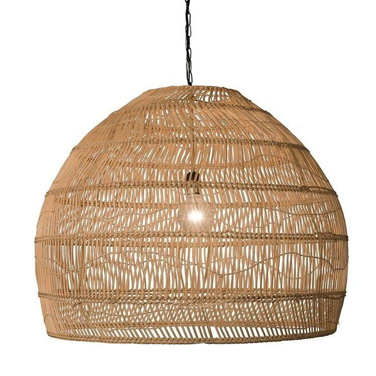 Vietnam Amazon Wholesale Handmade Round Woven Bamboo Rattan Pendant Lighting Lamp Shade 100% Eco-friendly for Home Decoration